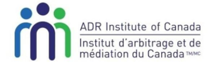 ADR Institute of Canada, Inc.<br>Chartered Arbitrator